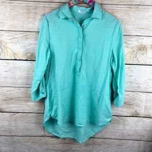 Light teal Crown & Ivy tunic size M // 0128